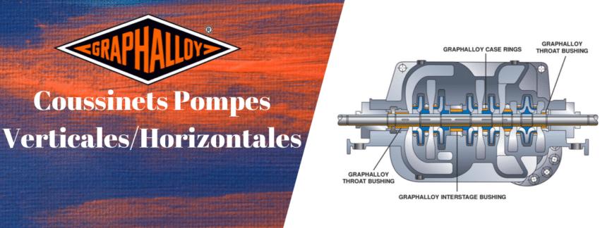 Coussinets de guidage pour pompes horizontale verticale bague d'usure mixeur