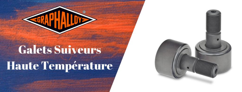 Galets suiveurs-Poussoirs de came-Galets de came+axe Haute températures Graphalloy graphite bushings