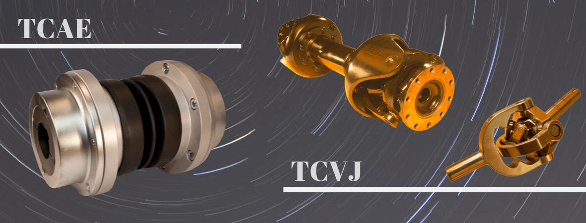 Accouplements TCAE/TCVJ arbres hélices moteur pompe roulement cardans homocinétiques