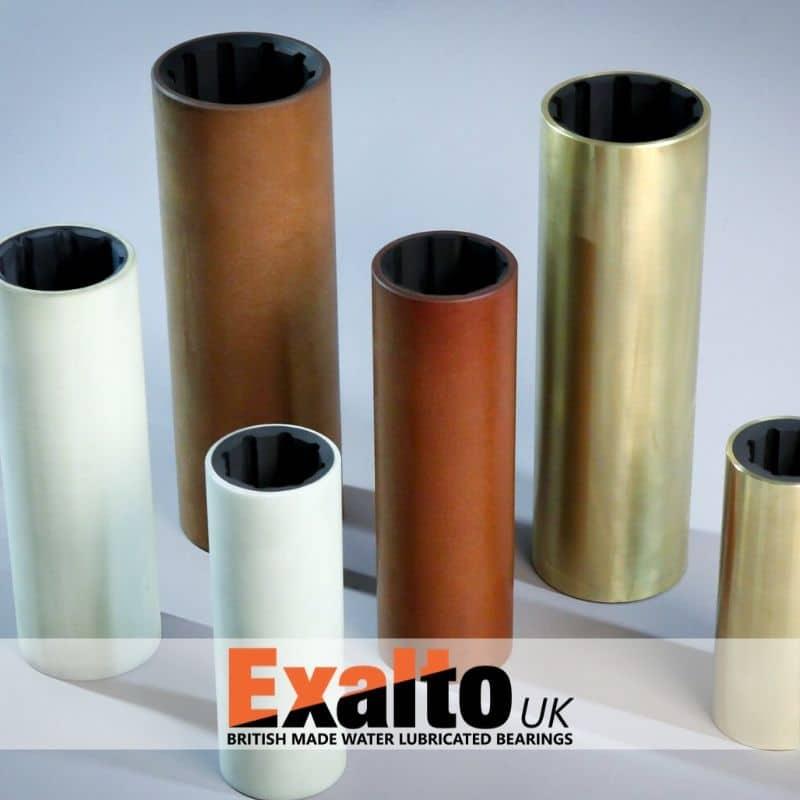 Hydrolubes Exalto bronze résine caoutchouc marine bearings