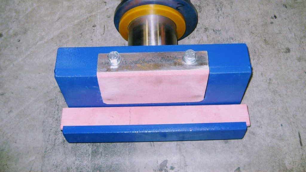 plaques patins composites anti-friction fortes charges glissière coussinets